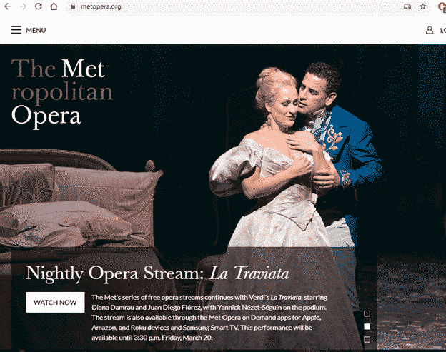 get the metropolitan operas daily streaming performances remote life work 35727 - Get the Metropolitan Opera's daily streaming performances