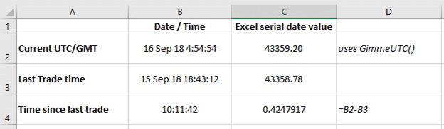 get utc gmt current time in excel microsoft excel 23556 - Get UTC / GMT current time in Excel