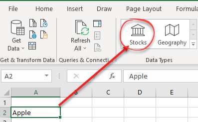 getting started with excel 365s stock data type microsoft excel 24660 - Getting Started with Excel 365's Stock Data Type