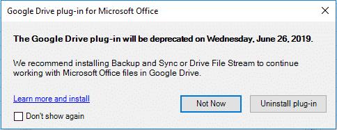google drive plug for office ending soon microsoft office 27128 - Google Drive plug for Office ending soon