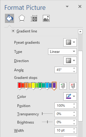 gradient and rainbow picture borders in word and powerpoint 35157 - Gradient and Rainbow Picture Borders in Word and PowerPoint
