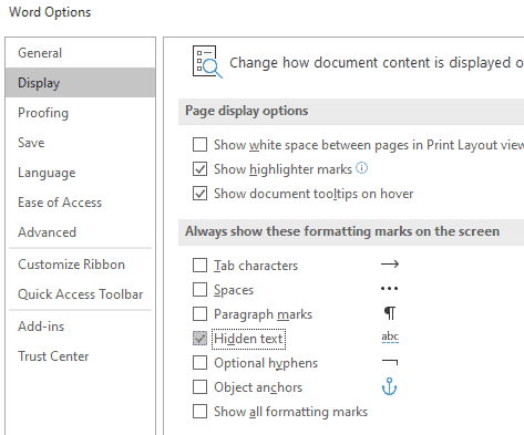 hidden text images and objects in word microsoft word 32261 - Hidden Text, Images and objects in Word