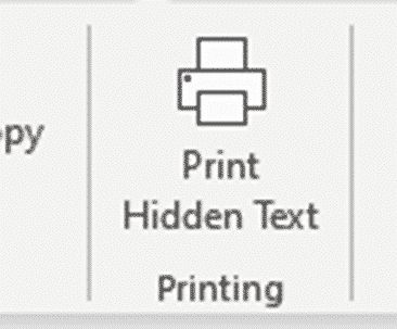 hidden text printing options and workaround for word microsoft office 33711 - Hidden Text Printing options and workaround for Word
