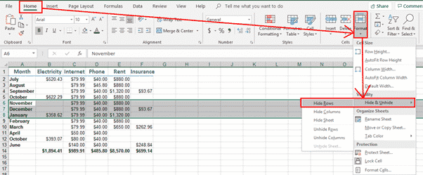 hiding columns and rows in excel microsoft office 31981 - Hiding Columns and Rows in Excel