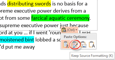 highlighting text in word powerpoint excel and outlook 5925 - Highlighting text in Word, PowerPoint, Excel and Outlook