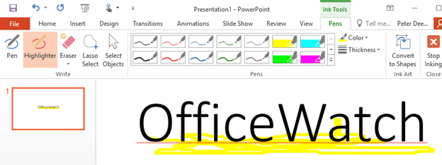 highlighting text in word powerpoint excel and outlook 5928 - Highlighting text in Word, PowerPoint, Excel and Outlook