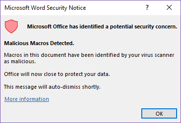 improvements to office malware protection microsoft office 23616 - Improvements to Office malware protection