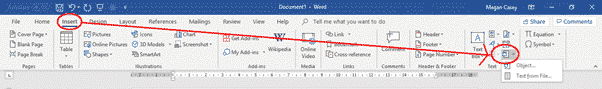 inserting or linking other files into word documents microsoft office 29923 - Inserting or linking other files into Word documents