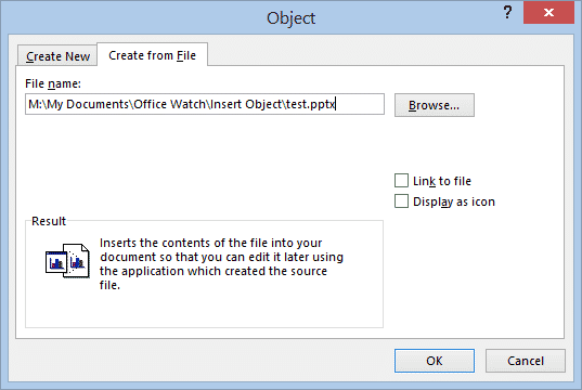 inserting or linking other files into word documents microsoft office 29929 - Inserting or linking other files into Word documents