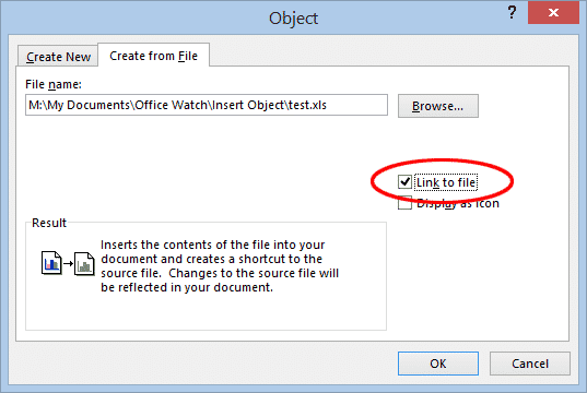 inserting or linking other files into word documents microsoft office 29932 - Inserting or linking other files into Word documents