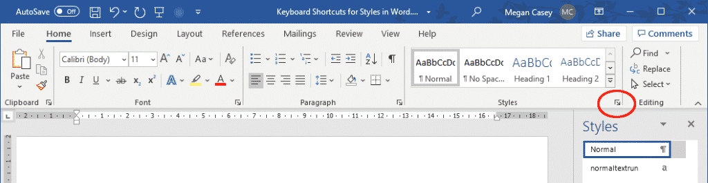 keyboard shortcuts for styles in word 35523 - Keyboard Shortcuts for Styles in Word
