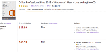 latest microsoft office sales scam at amazon buying office 32028 - Latest Microsoft Office sales scam at Amazon