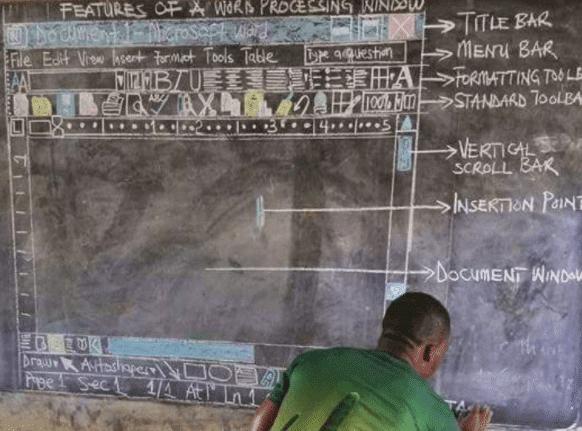 learn word from a blackboard drawing microsoft office 17275 - Busy few weeks for 'Blackboard Teacher' from Ghana