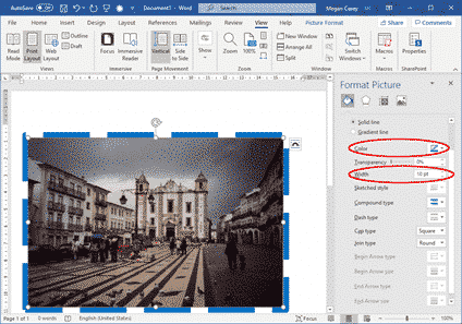 line ends on dashed picture borders in word and powerpoint 34827 - Line Ends on Dashed Picture Borders in Word and PowerPoint