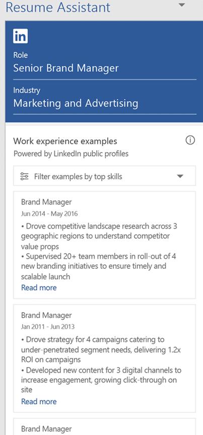 linkedin resume assistant for word 2016 15685 - LinkedIn Resume Assistant for Word 2016