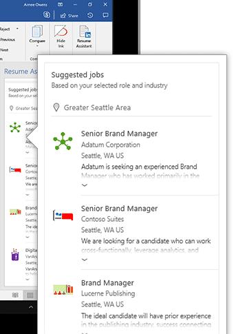 linkedin resume assistant for word 2016 15687 - LinkedIn Resume Assistant for Word 2016