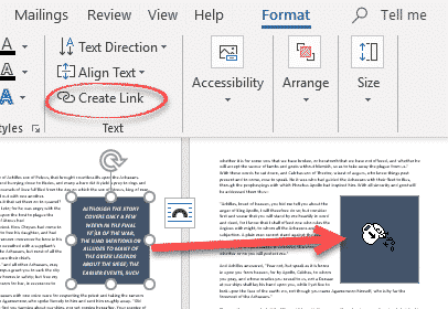 linking text flow between text boxes in word microsoft word 27802 - Linking text flow between Text Boxes in Word