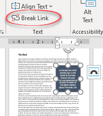 linking text flow between text boxes in word microsoft word 27805 - Linking text flow between Text Boxes in Word