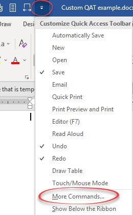 make a custom quick access toolbar for special documents in word 22638 - Make a custom Quick Access Toolbar for special documents in Word
