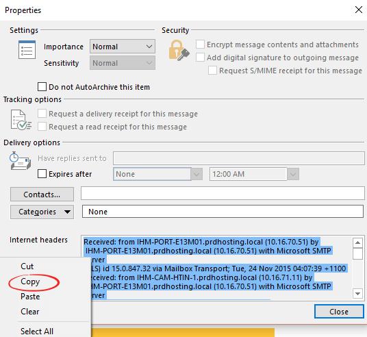 make sense of an outlook email header 6503 - Make sense of an Outlook email header