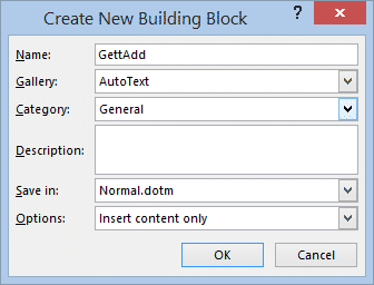 making autotext entries in word 36040 - Making AutoText or AutoCorrect entries in Word