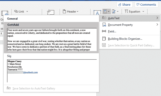 making autotext entries in word 36044 - Making AutoText or AutoCorrect entries in Word