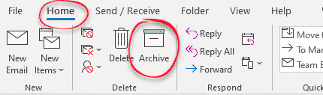 manually moving outlook messages to archive microsoft outlook 34872 - Manually moving Outlook messages to Archive