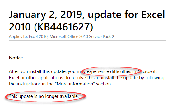 microsoft pulls office 2010 update wont say why but we will microsoft excel 25520 - Microsoft pulls Office 2010 update, won't say why, but we will