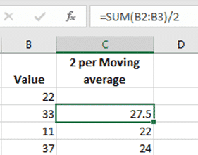 moving average in excel charts microsoft 365 37521 - Moving Average in Excel Charts
