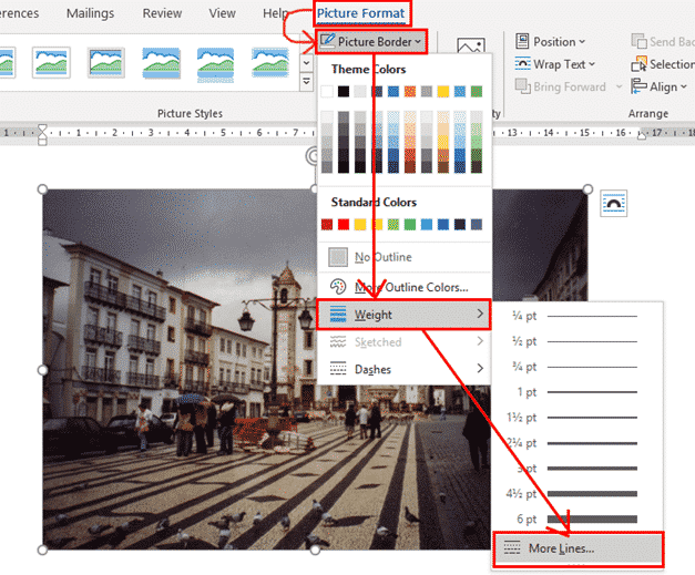 multi line picture borders in word or powerpoint 34767 - Multi-Line Picture Borders in Word or PowerPoint