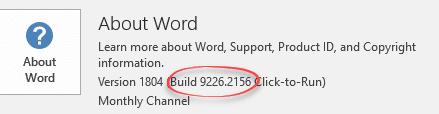 nerd alert office build numbers change format microsoft office 18779 - Nerd Alert: Office build numbers change format