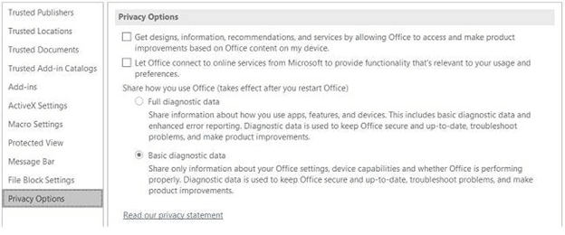 new diagnostic data sharing options in microsoft office office 365 19006 - Microsoft Office diagnostic info- tell them a little or a lot but always tell Microsoft