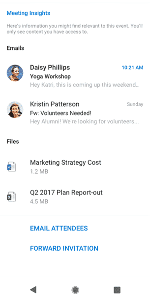 new excel and outlook for android features microsoft outlook 32883 - New Excel and Outlook for Android features