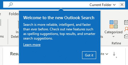 new search bar in outlook microsoft office 31854 - New Search bar in Outlook