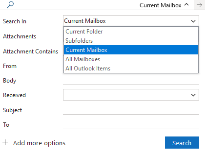 new search bar in outlook microsoft office 31855 - New Search bar in Outlook