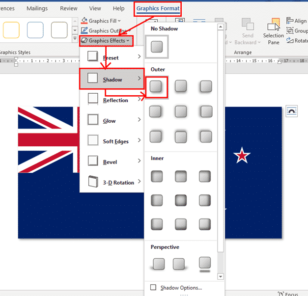 new zealand flag into word excel or powerpoint microsoft office 34623 - New Zealand Flag into Word, Excel or PowerPoint