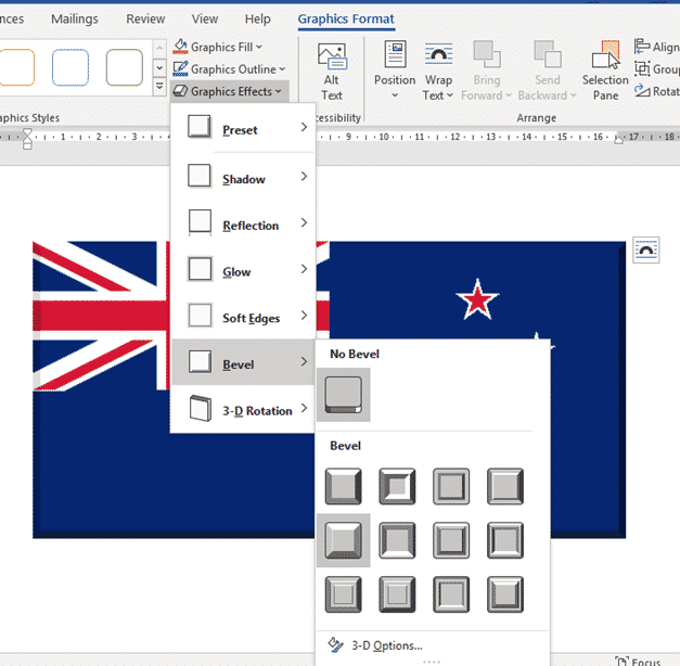 new zealand flag into word excel or powerpoint microsoft office 34625 - New Zealand Flag into Word, Excel or PowerPoint