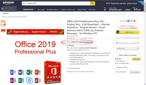 office 2019 professional plus from amazon for under 50 24206 - Office 2019 Professional Plus from Amazon for under $50?