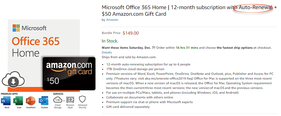 office 365 plus 50 gift card rip off they are at it again buying office 33049 - Office 365 plus $50 gift card 'deal', they are at it again