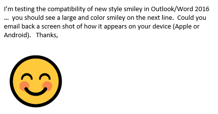 office emojis look different on other devices 13800 - Office Emoji look different on other devices