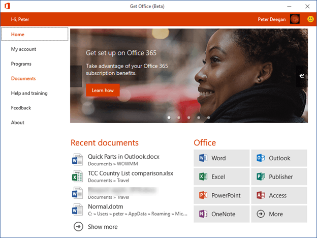 office hub app on windows 10 11637 - Office Hub app on Windows 10