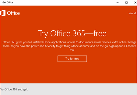 office hub app on windows 10 11638 - Office Hub app on Windows 10