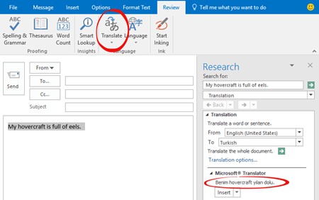 one way translation options in outlook 10297 - One-way Translation options in Outlook