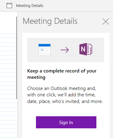 onenote for windows 10 misleading outlook feature 13812 - OneNote for Windows 10 misleading Outlook feature