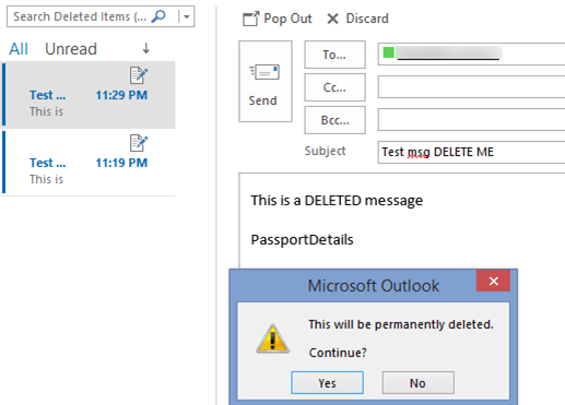 outlooks permanent delete but doesnt how we tested it 4050 - Outlook's 'Permanent' delete but doesn't - how we tested it.