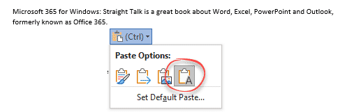 paste in microsoft word 36563 - Paste tricks and tips for Microsoft Word
