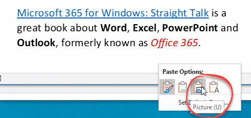paste in microsoft word 36568 - Paste tricks and tips for Microsoft Word