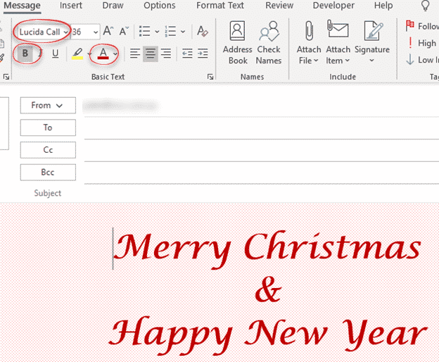 personal christmas emails its not too late microsoft outlook 33502 - Personal Christmas emails, it's not too late