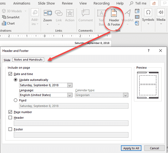 put current date or time into powerpoint microsoft powerpoint 23493 - Put current date or time into PowerPoint