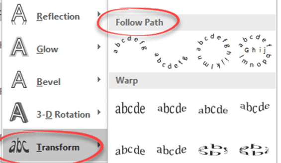 put word text on its side an angle a curve or around a shape microsoft word 23163 - Put Word text on its side, an angle or a curve